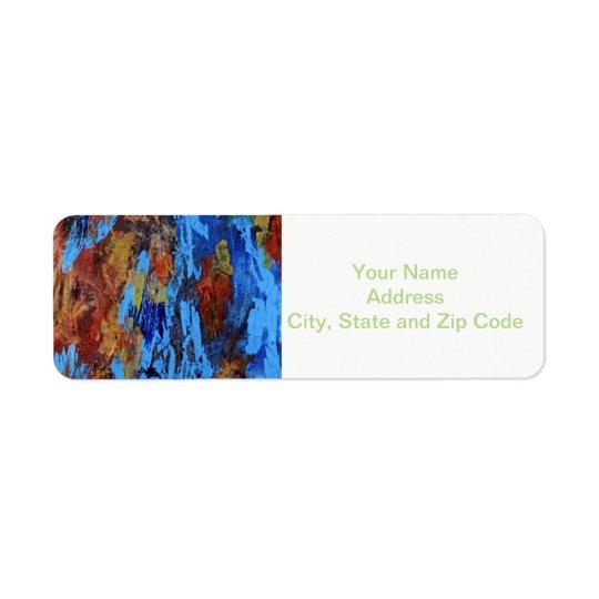Abstract design return address label, autumn. return address label