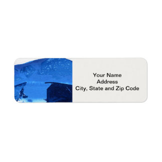 Abstract design return address label, mountain. return address label