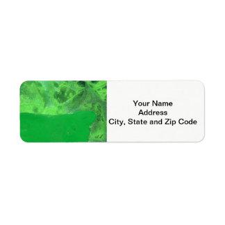 Abstract design return address label, table rock. return address label