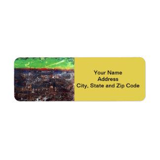 Abstract design return address label, Viet Nam. Return Address Label