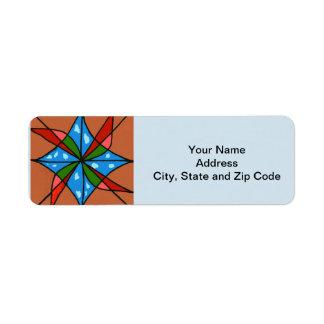 Abstract design return address label, windmills. return address label