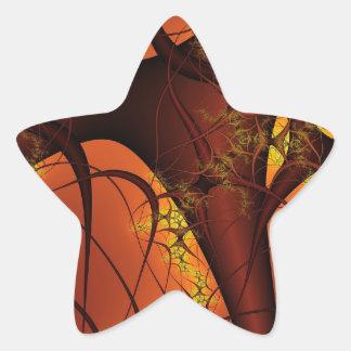 Abstract Design Star Sticker