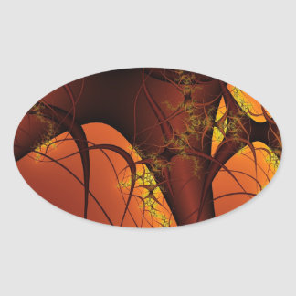 Abstract Design Oval Stickers