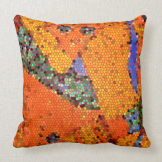 Abstract design- the capture of jeweled blue skull throw pillow