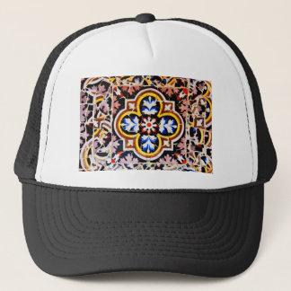 Abstract design trucker hat