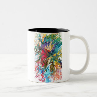 "Abstract Design:  ""Waves"" Two-Tone Coffee Mug"