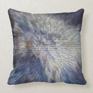 ABSTRACT DESIGN- WILD WHITE MUSTANG THROW PILLOW