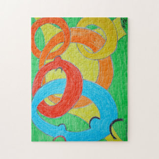 Abstract design with rings jigsaw puzzle