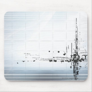 Abstract designs on grid mouse pad