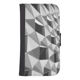 Abstract Diagonal Pattern Design Samsung S4 Wallet Case