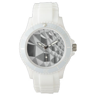 Abstract Diagonal Pattern Design Watch