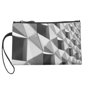 Abstract Diagonal Pattern Design Wristlet Clutches