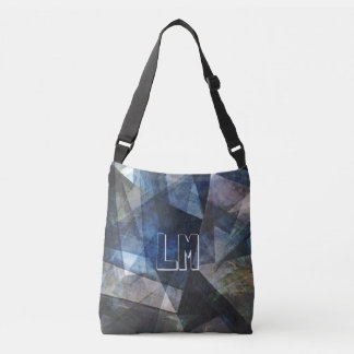 Abstract Digital Art Monogram Template Bag