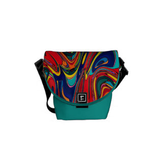 Abstract Digital Design Manipulated by Trevor Star Courier Bags