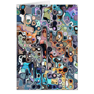 Abstract Digital Doodle 2 Card