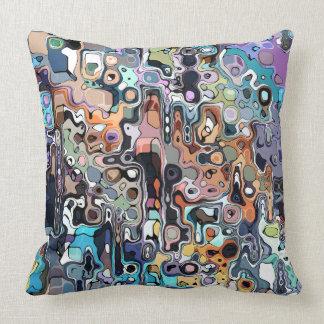 Abstract Digital Doodle 2 Throw Cushions