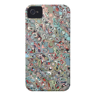 Abstract Digital Doodle iPhone 4 Case-Mate Case