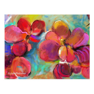 Abstract Digital Flowers   Postcard 6