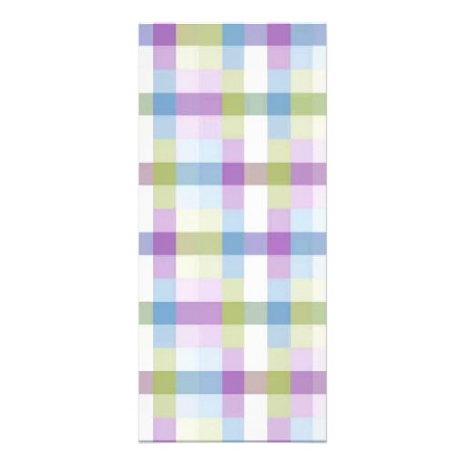 Abstract Digital Plaid Customized Rack Card