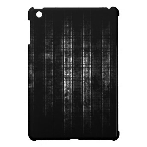 Abstract Distressed Black and White Lines Case For The iPad Mini