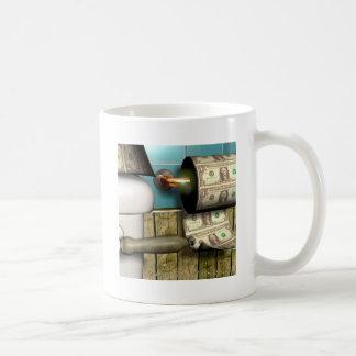 Abstract Dollar Toilet Bills Coffee Mug