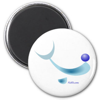 Abstract Dolphin Character 6 Cm Round Magnet
