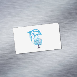 Abstract Dolphin Magnetic Business Cards