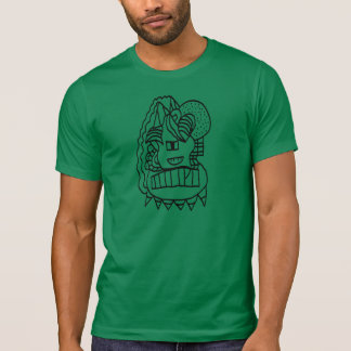Abstract Doodle Apparel Crew Neck T-Shirt