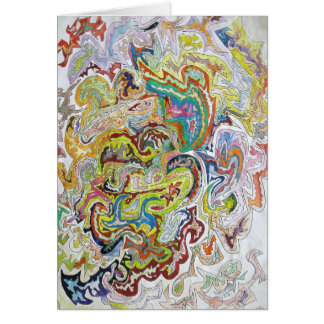 Abstract Doodle Card