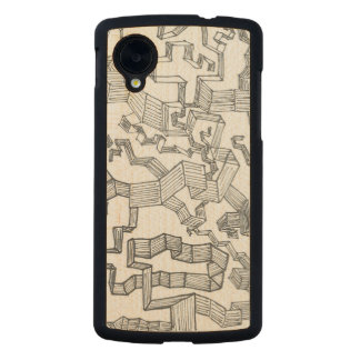 Abstract Doodle Carved® Maple Nexus 5 Case