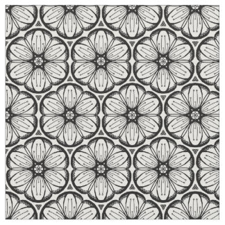 Abstract Doodle Flower Ink Tangling Pattern