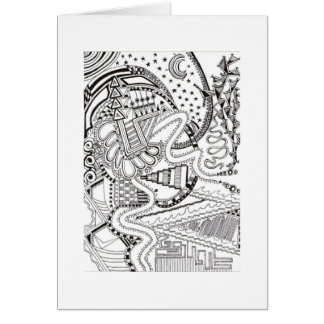 Abstract Doodle Front NoteCard Note Card