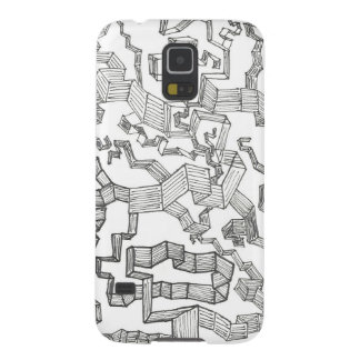 abstract doodle galaxy s5 cover