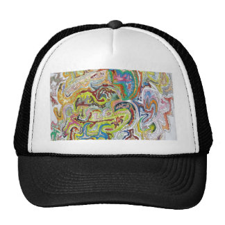 Abstract Doodle Mesh Hats