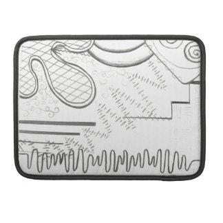 abstract doodle MacBook pro sleeve