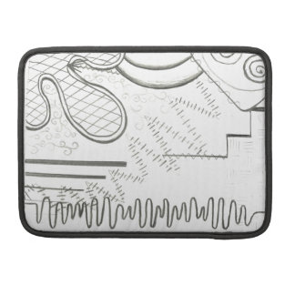 abstract doodle sleeve for MacBook pro