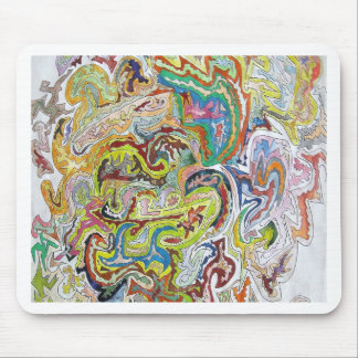 Abstract Doodle Mouse Pads