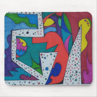 Abstract Doodle Mousepad