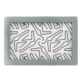 Abstract doodle pattern belt buckle