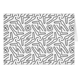 Abstract doodle pattern card