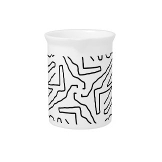 Abstract doodle pattern pitcher