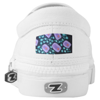 Abstract Doodle Slip-ons for Women