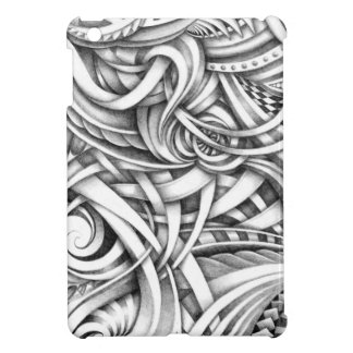 Abstract Doodle Swirly Lines Shaded In Pencil Art Case For The iPad Mini