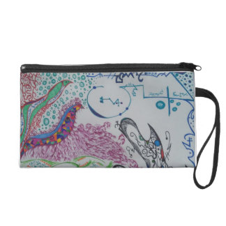 Abstract Doodle Wristlet