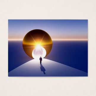 Abstract - Doorway to Golden Opportunity Business Card