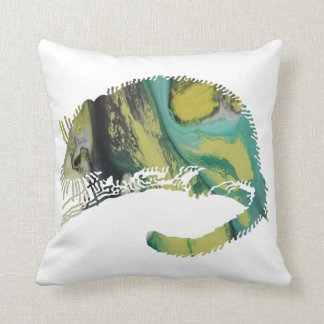 Abstract  Dormouse silhouette Throw Pillow
