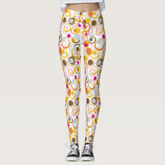 abstract dot legging
