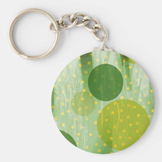 Abstract Dots Design Basic Round Button Key Ring