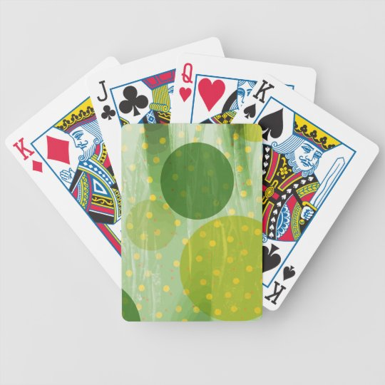 Abstract Dots Design Bicycle Playing Cards