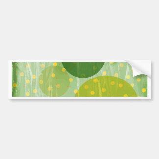 Abstract Dots Design Bumper Sticker